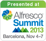 2013-11-06 Alfresco summit - Presented at