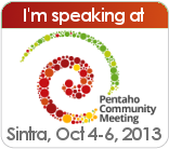 Pentaho Community Meeting 2013 - Sintra (PT)
